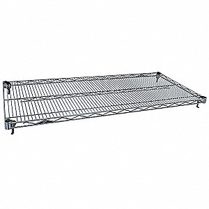 "Polished Wire Shelving Unit Starter, 74 to 86"" Height, 48"" Width, Number of Shelves 5"