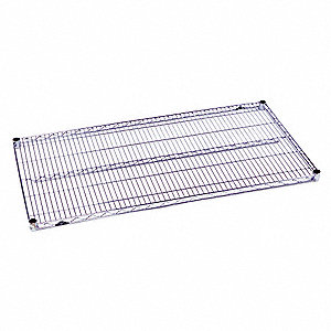 "Chrome Plated Wire Shelf, 48"" Width, 18"" Depth, 800 lb. Capacity, Package Quantity 5"