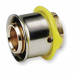 "Bronze Test Plug, PEX Connection Type, 1/2"" PEX Size"