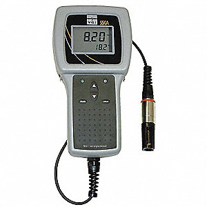 Dissolved Oxygen Meter,0 to 50mg/L,12 Ft