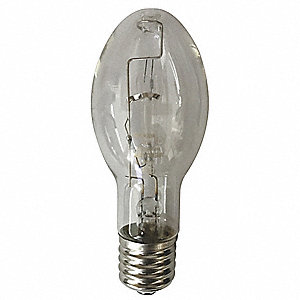 HID Lamp, Mercury Vapor Lamp Type, ED23.5 Bulb Shape, Open/Enclosed Fixture Type, 100 Watts