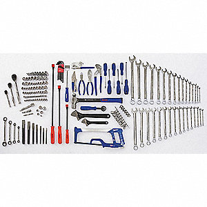 SAE Master Tool Set, Number of Pieces: 185, Primary Application: Mechanic