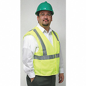 Polyester Flame Resistant Tear Away High Visibility Vest, Class 2