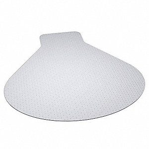 "Workstation Chair Mat, Clear, For Carpet with Padding Up to 3/4"" Thick"