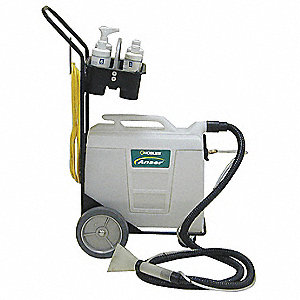 "Portable Carpet Spotter, 2 gal., 115V, 30 psi, 4"" Cleaning Path"
