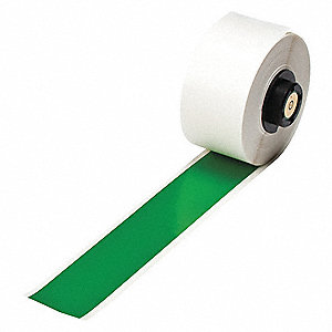"Green Vinyl Film Label Tape Cartridge, Indoor/Outdoor Label Type, 50 ft. Length, 1"" Width"