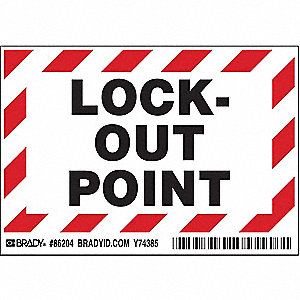 Lockout Label,3-1/2 In. H,5 In. W,PK5