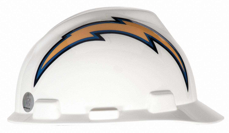 Msa Nfl Hard Hat C E Blue White 1 Touch 4vp58 818408