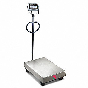 Ohaus mobile floor scale digital 500kg 1000 lb 4vyh7 for 1000 lb floor scale