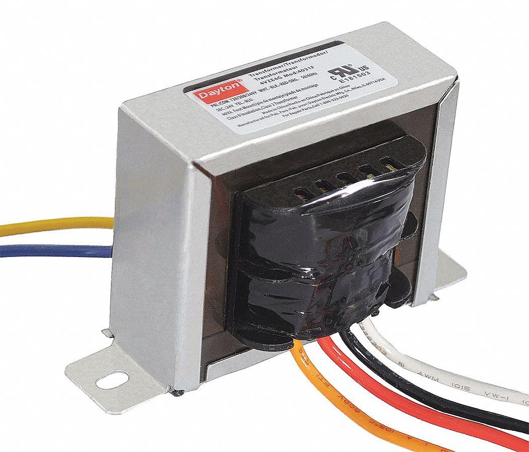 dayton class 2 transformer, input voltage: 120vac, 208vac, 240vac, output voltage: 24vac - 4vze4 ... dayton transformer wiring diagram dayton speaker wiring diagram #3