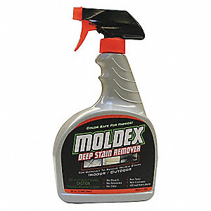 Mold Mildew Stain Remover, 32 oz. Trigger Spray, 1 EA
