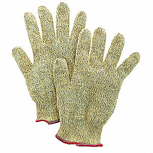 Uncoated, Cut Resistant Gloves, Proprietary Blend Lining, Yellow/Black, XL, PR 1