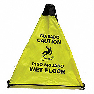 18  Bilingual Floor Cone with Strap