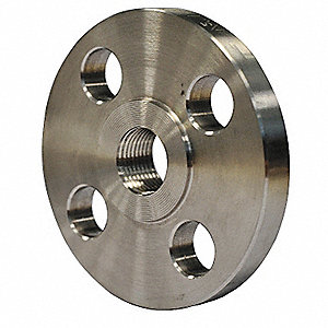 Flange,3 In,Threaded,304 Stainless Steel