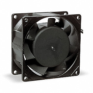 "Square Axial Fan, 3-1/8"" Width, 3-1/8"" Height, 24VDC Voltage"