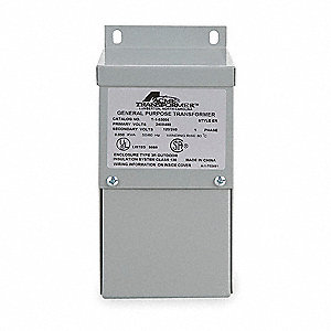 Wall-Mount 190 to 240/380 to 480VAC Export Transformer, 1kVA, 120/240VAC Output Voltage