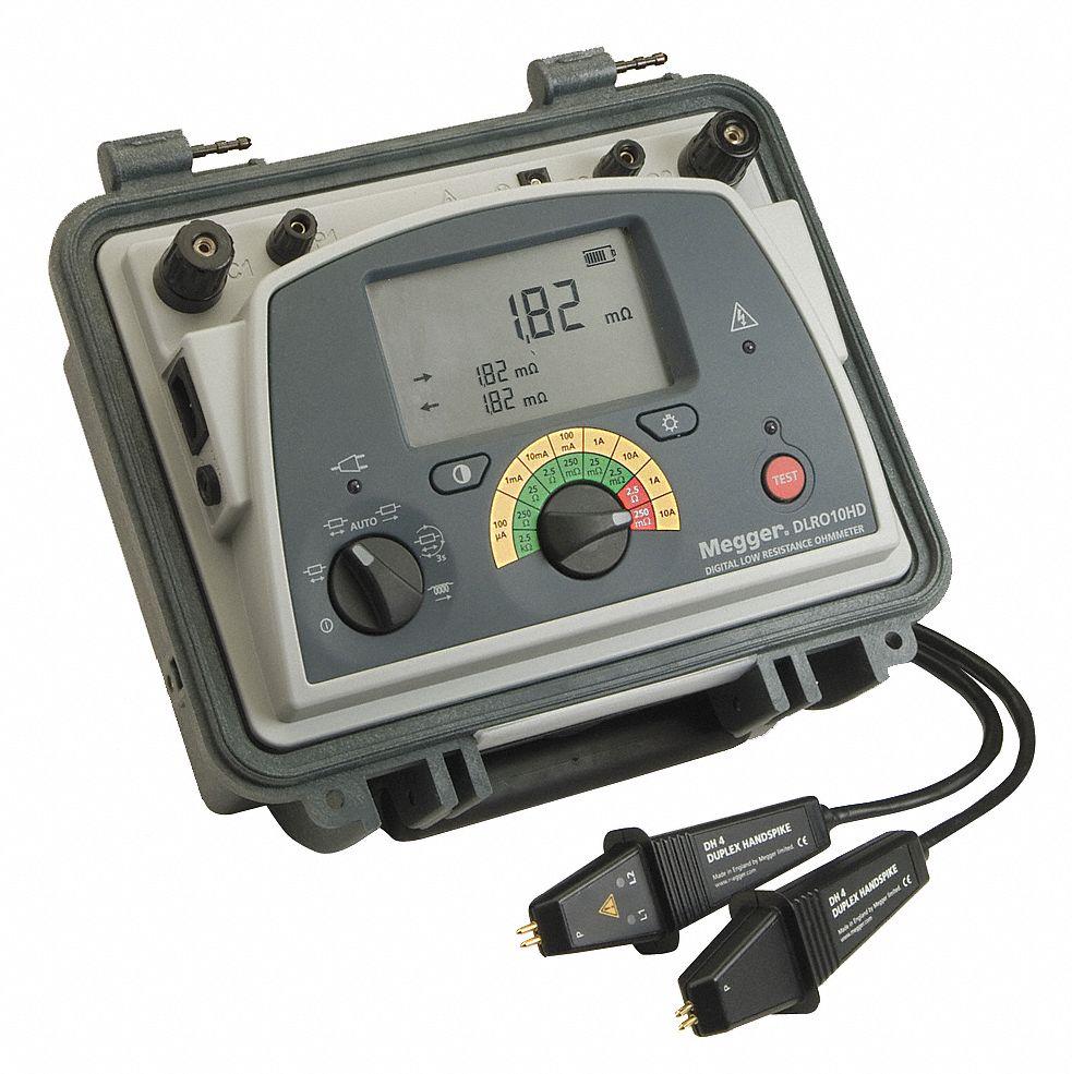 Using An Ohmmeter : Megger micro ohm meter ohms wxr dlro hd grainger