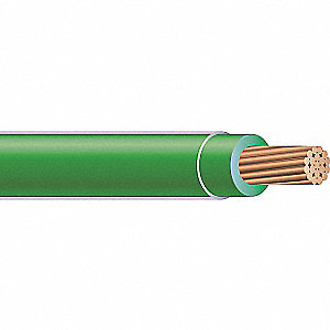 Building Wire,THHN,4 AWG,Green,500ft