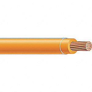 Building Wire,THHN,6 AWG,Orange,500ft