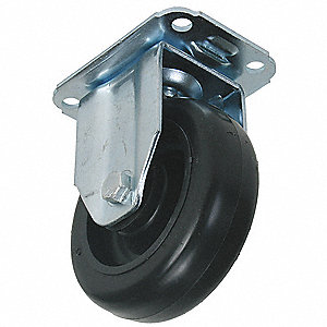5'' Rigid Plate Caster, 220 lb. Load Rating