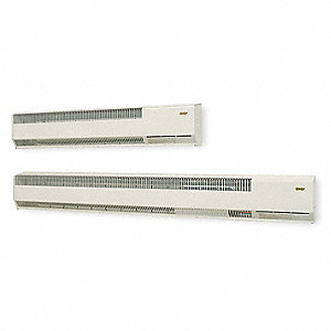 "Baseboard Heater, NG, BtuH 5000, Gas Connection 3/8"", Voltage 120, Watts 1465, Width 48"""