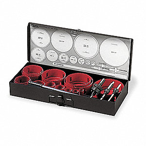 Industrial Hole Saw Kit,19 pcs.