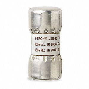 Fast Acting, Cylindrical, Fuse, JJN Series, 300VAC/160VDC, Nonindicating