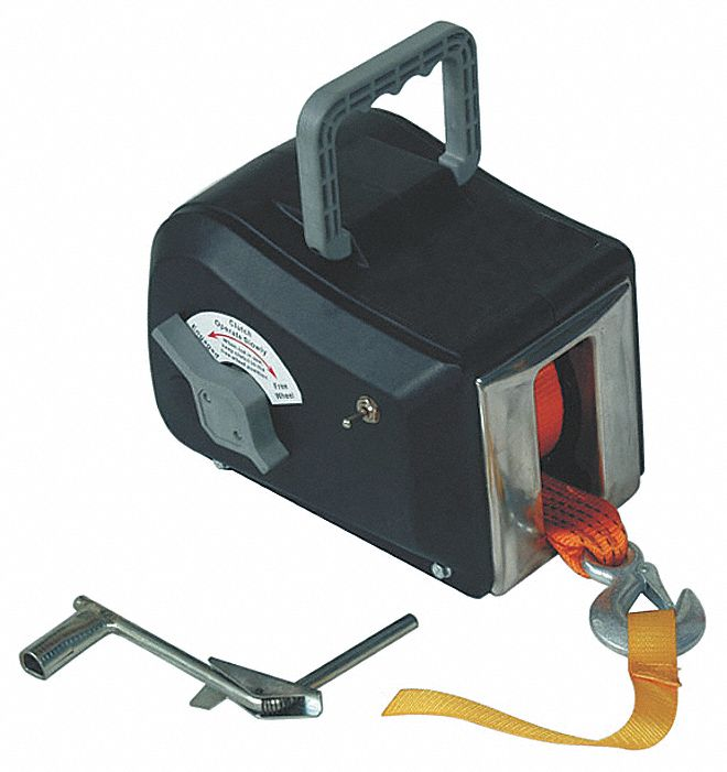 Dayton Electric Winch 1hp 12vdc 14l038 14l038 Grainger