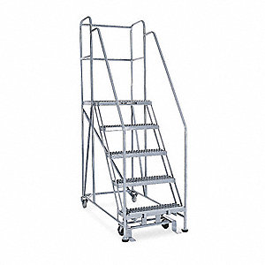 "Rolling Work Platform, Steel, Single Access Platform Style, 50"" Platform Height"