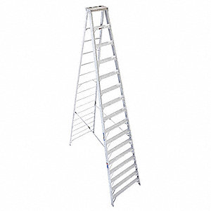 16 ft. 300 lb. Load Capacity Aluminum Stepladder