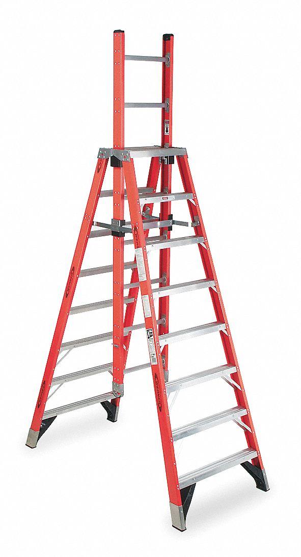 Werner Trestle Extension Ladder Fibrglss 8ft Ia 4xp05