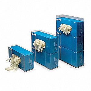 "Vertical Glove Dispenser, Clear, Acrylic, Holds: (1) Box, 11"" Width"