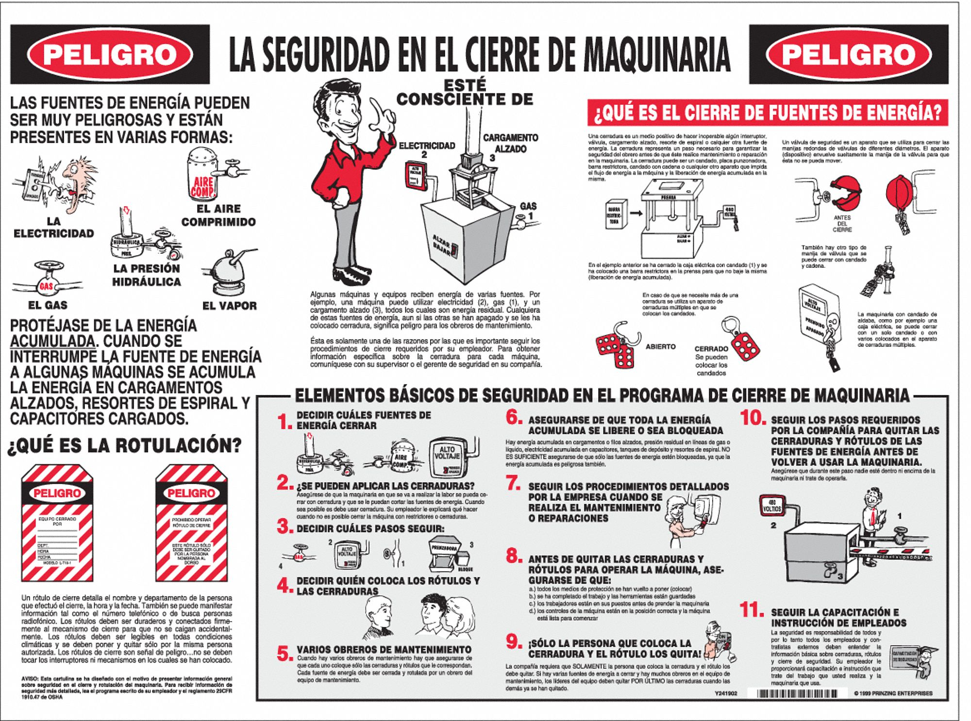 Brady Training Poster Spanish 18 Quot X 24 Quot 1 Ea 4xr12