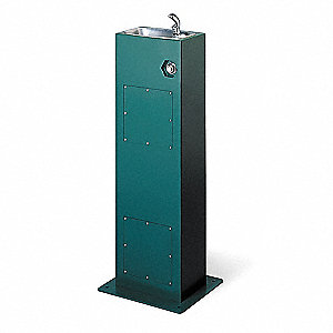 Pedestal Mount, Push Button Drinking Fountain