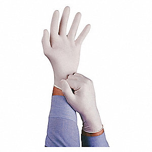 "Neutrals Disposable Gloves, Natural Rubber Latex, Powdered, L, 5 mil Palm Thickness, 9"" Length"