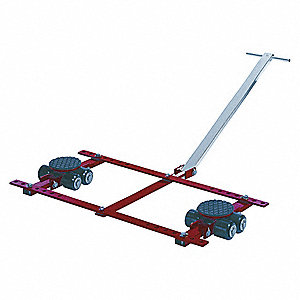 Tandem Machine Dolly, 13,200 lb., Steel, Number of Rollers 16