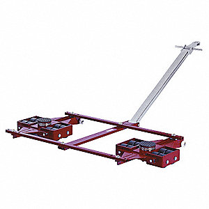 Tandem Machine Dolly, 44,000 lb., Steel, Number of Rollers 16