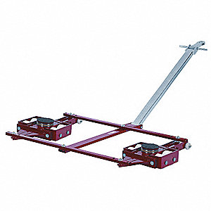 Tandem Machine Dolly, 88,000 lb., Steel, Number of Rollers 16