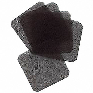 Polyurethane Foam Air Filter, 45 PPI, 5 PK,For Fan Size (In.) 4-11/16