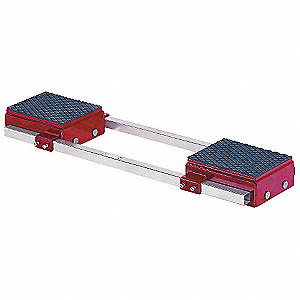 Machine Dolly, 88,000 lb., Steel, Number of Rollers 16