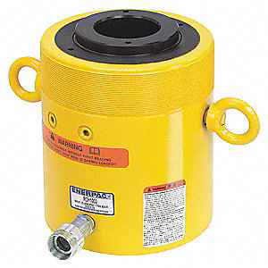 "100 tons Single Acting Hollow Steel Hydraulic Cylinder, 3"" Stroke Length"