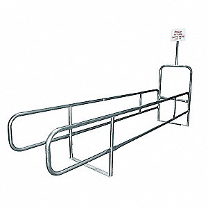 "Single Wide Cart Corral, 32"" Width between Rails"