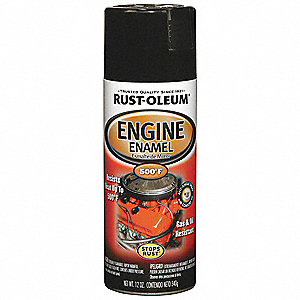 Engine Enamel,Gloss Black,12 oz,Spray