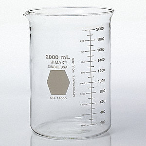 Beaker,Glass,2000 mL,PK4