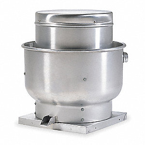 "Assembled Upblast Centrifugal Ventilator, 11"" Wheel Dia., Direct-Drive"