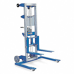 Invertible Fork Straddle Lift, 350 lb., Lifting Height Forks Up 165-1/2""