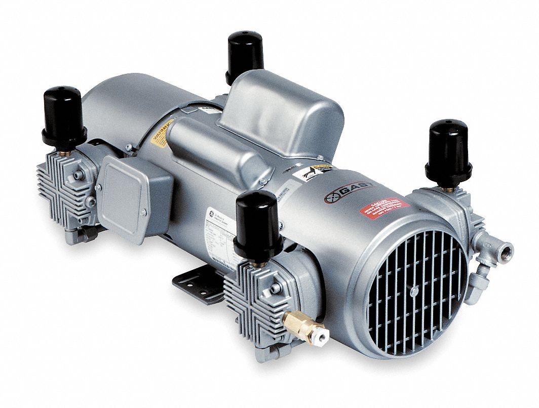 Gast 2 hp piston air compressor vacuum pump 230 460vac for Gast air motor distributors