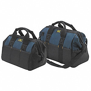 Polyester Tool Bag Set, General Purpose, Number of Pockets: 22 and 25, Blue/Black
