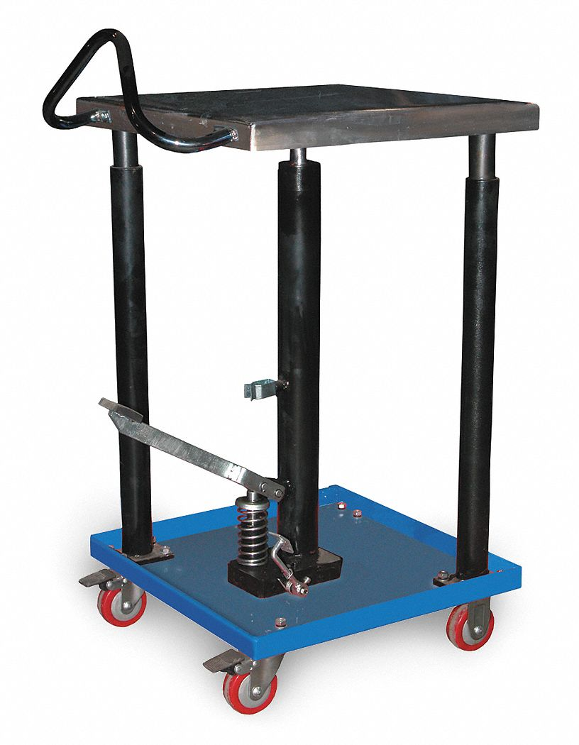 Small Hydraulic Lift Platforms : Grainger approved mobile manual lift push