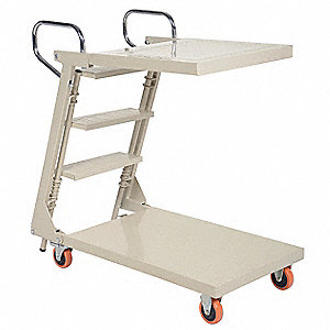 Stock Picking Ladder Cart,440 lb.